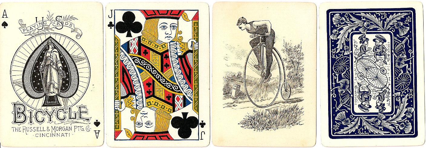 Bicycle kártya 1889-ből